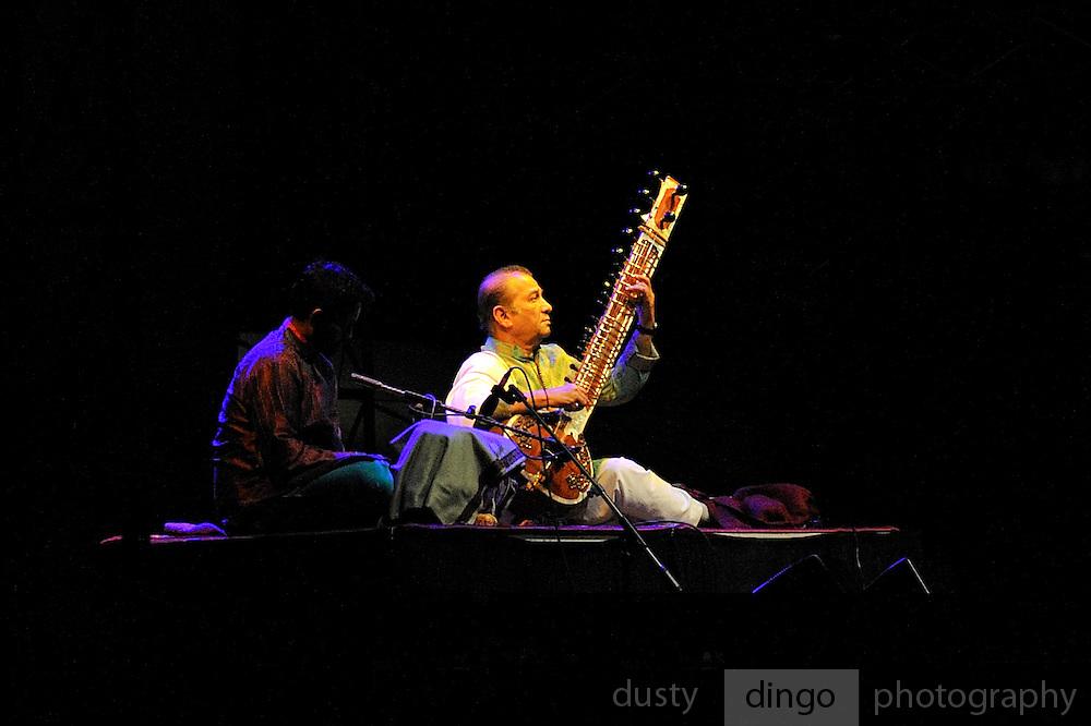 Sitar maestro Ustad Usman Khan. Perth, Western Australia, 2014