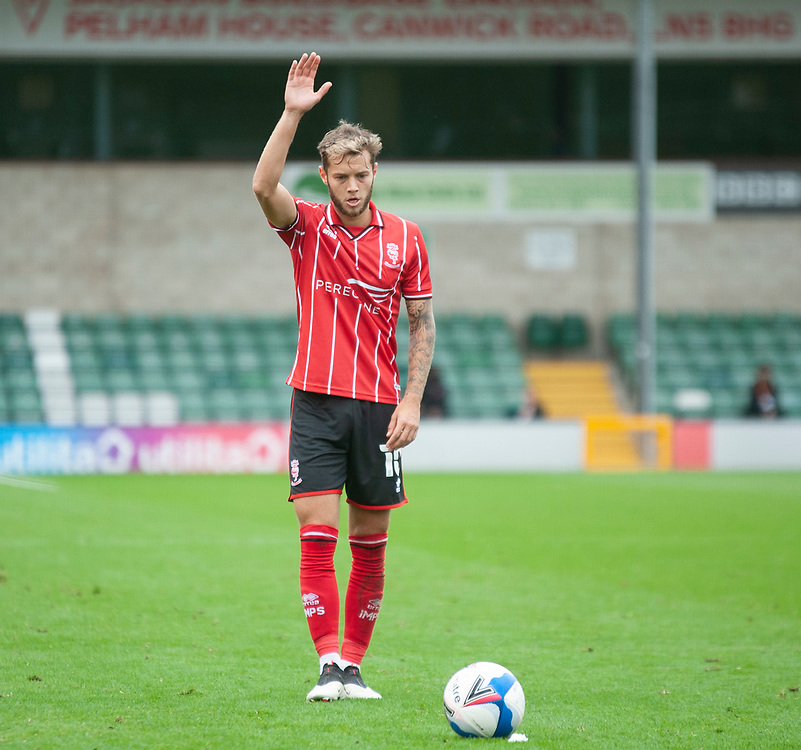 Lincoln City's Jorge Grant<br /> <br /> Photographer Andrew Vaughan/CameraSport<br /> <br /> The EFL Sky Bet League One - Lincoln City v Charlton Athletic - Sunday 27th September, 2020 - LNER Stadium - Lincoln<br /> <br /> World Copyright © 2020 CameraSport. All rights reserved. 43 Linden Ave. Countesthorpe. Leicester. England. LE8 5PG - Tel: +44 (0) 116 277 4147 - admin@camerasport.com - www.camerasport.com
