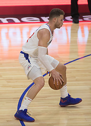 October 12, 2017 - Los Angeles, California, U.S - Blake Griffin #32 of the Los Angeles Clippers during their preseason game against the Sacramento Kings Thursday October 12, 2017 at the Galen Center in USC in Los Angeles, California. Clippers defeat Kings, 104-87. (Credit Image: © Prensa Internacional via ZUMA Wire)