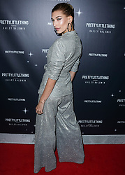 WEST HOLLYWOOD, LOS ANGELES, CA, USA - NOVEMBER 05: PrettyLittleThing X Hailey Baldwin Launch Event held at Catch LA Restaurant on November 5, 2018 in West Hollywood, Los Angeles, California, United States. 05 Nov 2018 Pictured: Hailey Rhode Baldwin. Photo credit: Xavier Collin/Image Press Agency/MEGA TheMegaAgency.com +1 888 505 6342