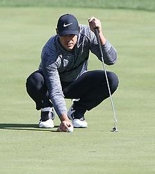 Oct 19, 2018-Jeju, South Korea-BROOKS KOEPKA of USA action on the 3th hall during the PGA Golf CJ Cup Nine Bridges Round 2 at Nine Bridges Golf Club in Jeju, South Korea.