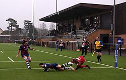 Jasmine Joyce of Bristol Bears Women scores a try - Mandatory by-line: Paul Knight/JMP - 28/11/2020 - RUGBY - Shaftesbury Park - Bristol, England - Bristol Bears Women v Saracens Women - Allianz Premier 15s