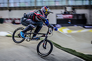 #148 (VAN GENDT Twan) NED during practice at the 2019 UCI BMX Supercross World Cup in Manchester, Great Britain