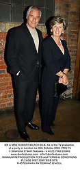MR & MRS ROBERT KILROY-SILK, he is the TV presenter,  at a party in London on 28th October 2003.PNW 76