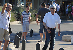 03.08.2013, Sibenik, CRO, Bernie Ecclestone ist im Urlaub an der kroatischen Kueste, im Bild The owner of Formula 1 Bernie Ecclestone is on vacation on the Croatian coast. The morning he spent walking with friends. Without bodyguards Bernie was talking with citizens and went shopping in the town market // during a on vacation on the Croatian coast from Bernie Ecclestone in Sibenik, croatia on 2013/08/03. EXPA Pictures © 2013, PhotoCredit: EXPA/ Pixsell/ Hrvoje Jelavic<br /> <br /> ***** ATTENTION - for AUT, SLO, SUI, ITA, FRA only *****