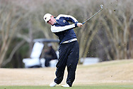 WILMINGTON, NC - MARCH 19: Kent State's Ian Holt tees off on the Marsh Course second hole. The first round of the 2017 Seahawk Intercollegiate Men's Golf Tournament was held on March 19, 2017, at the Country Club of Landover Nicklaus Course in Wilmington, NC.