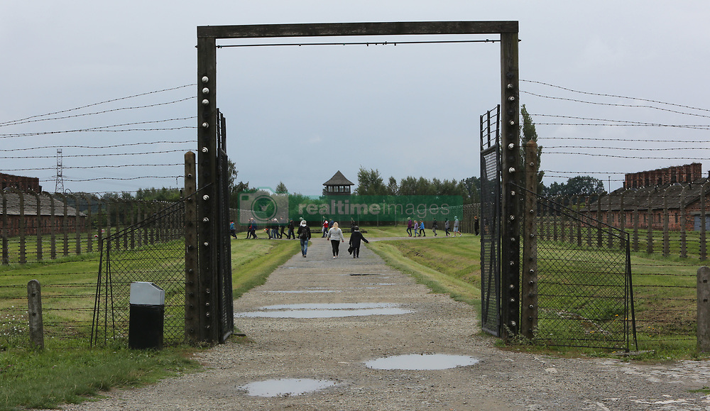 General view of Auschwitz-Birkenau Nazi concentration camp in Auschwitz, Poland on September 3, 2017. Auschwitz concentration camp was a network of German Nazi concentration camps and extermination camps built and operated by the Third Reich in Polish areas annexed by Nazi Germany during WWII. It consisted of Auschwitz I (the original camp), Auschwitz II–Birkenau (a combination concentration/extermination camp), Auschwitz II–Monowitz (a labor camp to staff an IG Farben factory), and 45 satellite camps. In September 1941, Auschwitz II–Birkenau went on to become a major site of the Nazi Final Solution to the Jewish Question. From early 1942 until late 1944, transport trains delivered Jews to the camp's gas chambers from all over German-occupied Europe, where they were killed en masse with the pesticide Zyklon B. An estimated 1.3 million people were sent to the camp, of whom at least 1.1million died. Around 90 percent of those killed were Jewish; approximately 1 in 6 Jews killed in the Holocaust died at the camp. Others deported to Auschwitz included 150,000 Poles, 23,000 Romani and Sinti, 15,000 Soviet prisoners of war, 400 Jehovah's Witnesses, and tens of thousands of others of diverse nationalities, including an unknown number of homosexuals. Many of those not killed in the gas chambers died of starvation, forced labor, infectious diseases, individual executions, and medical experiments. In 1947, Poland founded a museum on the site of Auschwitz I and II, and in 1979, it was named a UNESCO World Heritage Site. Photo by Somer/ABACAPRESS.COM