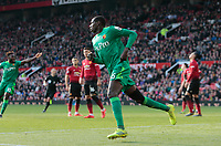 Football - 2018 / 2019 Premier League - Manchester United vs. Watford<br /> <br />  Abdoulaye Doucoure of Watford turns away after he  scores his side's first goal after 90 minutes at Old Trafford<br /> COLORSPORT/ALAN MARTIN