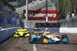 March 11, 2018 - St. Petersburg, Florida, United States of America - March 11, 2018 - St. Petersburg, Florida, USA: Gabby Chaves (88) battles for position during the Firestone Grand Prix of St. Petersburg at Streets of St. Petersburg in St. Petersburg, Florida. (Credit Image: © Justin R. Noe Asp Inc/ASP via ZUMA Wire)