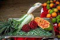 The Cooks display their creative food art. Image taken with a Fuji X-T1 camera and 35mm f/1.4 (ISO 6400, 35 mm, f/4, 1/4000 sec).