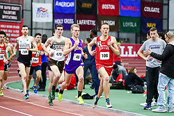 men Mile, 4, BU, Aksel Laudon<br /> Boston University Scarlet and White<br /> Indoor Track & Field, Bruce LeHane