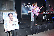 """l to r: Steve Harvey and Crystal Worthem at """" Lincoln After Dark """" sponsored by Lincoln Motors and hosted by Idris Elba and Steve Harvey and music by Biz Markie during the 2009 Essence Music Festival and held at The Contemporary Arts Center in New Orleans on July 4, 2009"""