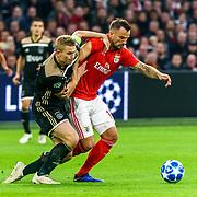 NLD/Amsterdam/20181023 - Champions Leaguewedstrijd  Ajax - SL Benfica, nr. 4 Matthijs de Ligt