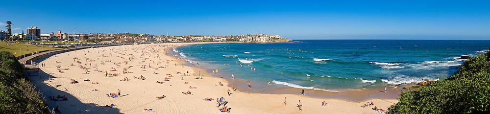 Bondi Beach, Sydney, New South Wales, Australia. High resolution panorama.