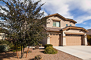 """26 DECEMBER 2010 - MARICOPA, AZ: BRISTOL PALIN, 20, bought this home in Maricopa, AZ, for $172,000. The former contestant on """"Dancing with the Stars"""" and daughter of Sarah Palin, former governor of Alaska, former Republican Vice Presidential candidate, reality television star, best selling author and supporter of the Tea Party movement. Bristol Palin paid $172,000 cash for the two-level, 3,900-square-foot, brown stucco house with a tile roof, 2 1/2 baths, a three-car garage, landscaped front and back yards, and access to a community pool. Local media reported that the home was built in 2006, at the peak of the Arizona real estate boom, and was bought for a little under $330,000 at the time. According to paperwork filed with the Pinal County Recorder's Office, Palin closed on the home in early December, buying it from Michael and Cynthia Smith, North Dakota investors who bought the home when it was in foreclosure. The home is in the Cobblestone Farms development in Maricopa, about 40 miles from Phoenix. Maricopa was a small farming community until the late 1990's when land speculators starting buying up the farms and turning them into subdivisions. Growth in Maricopa boomed from 2002 until 2008 when the recession, foreclosure and banking crisis hit. Since then it has had one of the highest foreclosure rates in the United States. Now investors are starting to buy foreclosed homes in Maricopa, anticipating the end of the foreclosure crisis. Homes in Maricopa are now selling for about less than half of what they cost in 2006. Bristol Palin has not commented publicly on the purchase and has not said if the home is an investment or if she plans to live in it. PHOTO BY JACK KURTZ"""