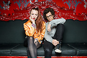 Astr pose for a portrait at Le Poisson Rouge as part of the Red Bull Sound Select Series in New York, NY on February 19, 2014.
