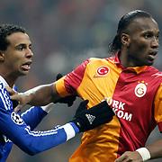 Galatasaray's Didier Drogba during their UEFA Champions League Round of 16 First Leg match Galatasaray between Schalke 04 at the TT Arena Ali Sami Yen Spor Kompleksi in Istanbul, Turkey on Wednesday 20 February 2013. Photo by Aykut AKICI/TURKPIX