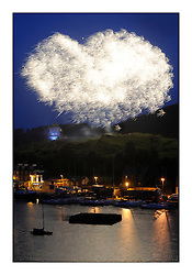 Brewin Dolphin Scottish Series 2011, Tarbert Loch Fyne - Yachting - Day 3 of the 4 day series. ..Saturday Evening Firework by Tarbert Harbour..