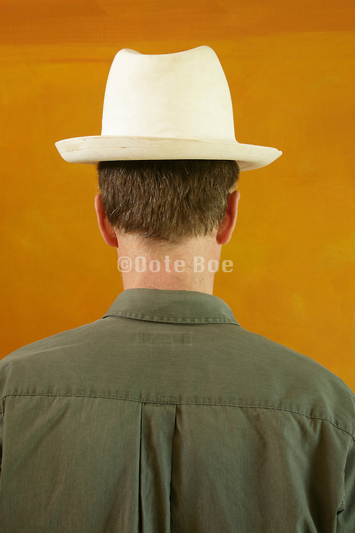 male person with white plaster hat