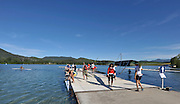 Banyoles, SPAIN,   GV.  boating dock.  FISA World Cup Rd 1. Lake Banyoles  Thursday, 28/05/2009  [Mandatory Credit. Peter Spurrier/Intersport Images]