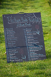 List of alliums at the Parham House and Gardens Bulb Festival