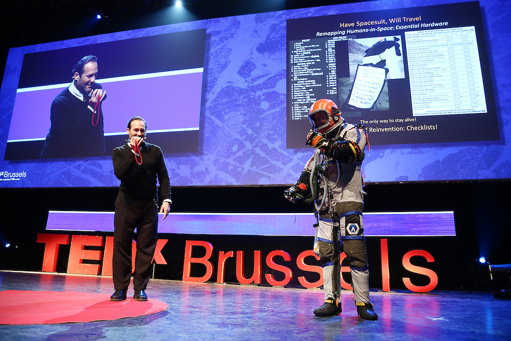 Session III - Back to the Future - 01 December 2014<br /> <br /> Cameron Smith | Have Space Suit - Will Travel<br /> <br /> TEDX BRUSSELS 2014 - The Territory and the MAP -  Belgium - Brussels - October 2014 © TEDx Brussels/Scorpix