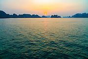 Sunrise, Halong Bay, Vietnam, Asia