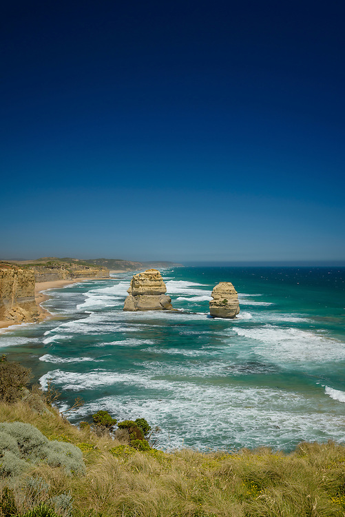 Gibsons Beach on the Great Ocean Road with clear blue sky
