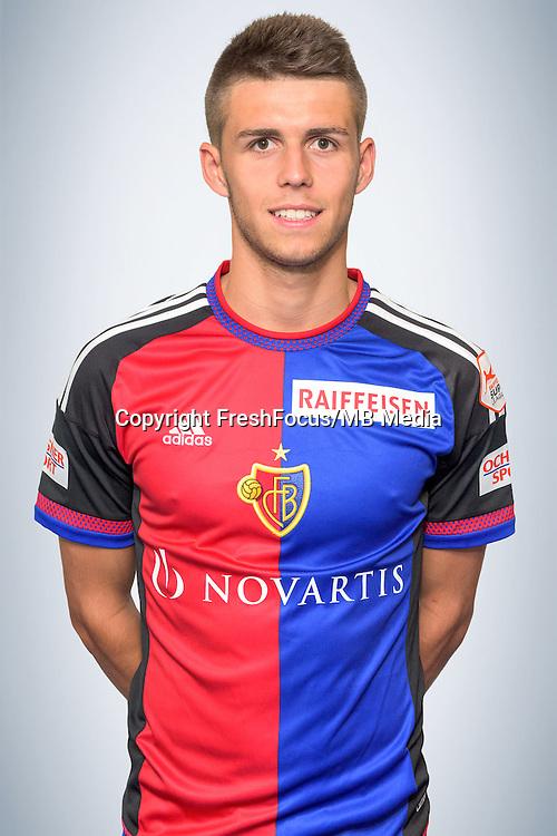 15.07.2016; Basel; Fussball Super League - FC Basel; Portrait; <br />Nicolas Hunziker (Basel) <br />(Sacha Grossenbacher/pool/freshfocus)