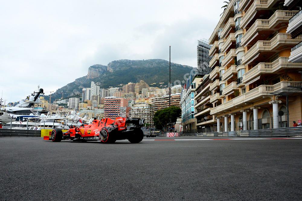 Sebastian Vettel (Ferrari) during practice before the 2019 Monaco Grand Prix. Photo: Grand Prix Photo