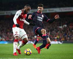November 29, 2017 - London, England, United Kingdom - Arsenal's Alexandre Lacazette..during Premier League match between Arsenal and Huddersfield Town at Emirates Stadium, London,  England on 29 Nov   2017. (Credit Image: © Kieran Galvin/NurPhoto via ZUMA Press)