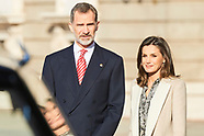 022719 Spanish Royals attends the Official Reception to President of Peru and wife
