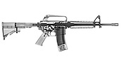 M4 (m16A2) Assault rifle under x-ray on white background