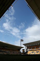 """A general view of the Molineux Stadium ahead of the Sky Bet Championship match between Wolverhampton Wanderers and Burton Albion. PRESS ASSOCIATION Photo. Picture date: Saturday March 17, 2018. See PA story SOCCER Wolves. Photo credit should read: Chris Radburn/PA Wire. RESTRICTIONS: EDITORIAL USE ONLY No use with unauthorised audio, video, data, fixture lists, club/league logos or """"live"""" services. Online in-match use limited to 75 images, no video emulation. No use in betting, games or single club/league/player publications."""