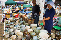 Ceramics are for sale atTogo Shrine Market in Harajuku, the location of the renowned Togo Shrine Market held on the first and fourth Sundays of each month.