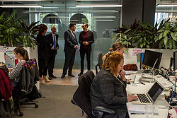 Pictured: Jamie Hepburn was shown around Whitespace by managing partner Phillip Lockwood-Holmes<br />