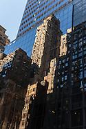 New york . mirror games on buildings on madison avenue  New York - United States  / jeu de mirroir sur les immeuble de madisson avenue New York Manhattan - Etats unis