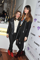 Left to right, PIPS TAYLOR and LILAH PARSONS at a party to celebrate the launch of the Casio Tokyo watch in association with Flashtrash.com held at itsu, 10a Blandford Road, London W1 on 28th January 2013.