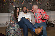 CATHERINE BAILEY; KEITH TYSON; DAVID BAILEY , Royal Academy Summer exhibition party. Piccadilly. 7 June 2016
