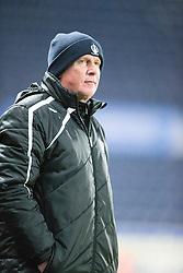 Falkirk's manager Peter Houston. <br /> Falkirk 1 v 0 Cowdenbeath, Scottish Championship game played 31/3/2015 at The Falkirk Stadium.