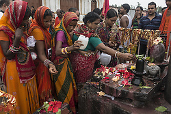 KOLKATA, Aug. 9, 2016 (Xinhua) -- Indian Hindu devotees offer prayers to Lord Shiva, Hindu god of destruction, during Shravan festivities at the confluence of the River Ganges and the Bay of Bengal, some 150 km south of Calcutta, capital of eastern Indian state West Bengal, Aug. 8, 2016. (Xinhua/Tumpa Mondal) .****Authorized by ytfs* (Credit Image: © Tumpa Mondal/Xinhua via ZUMA Wire)