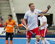 David Ames. England v Malaysia - 3rd/4th Playoff - Hockey World League Semi Final, Lee Valley Hockey and Tennis Centre, London, United Kingdom on 25 June 2017. Photo: Simon Parker