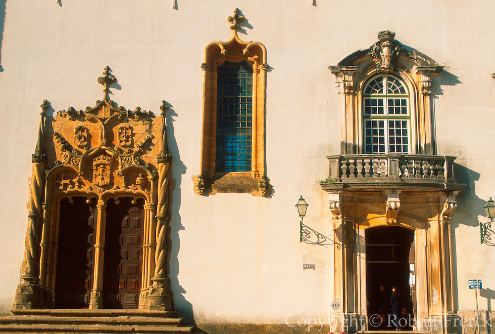 PORTUGAL, CENTRAL AREA, COIMBRA once capital and site of Portugal's oldest University, founded in 1290; Manueline doorway into chapel