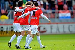 16-05-2010 VOETBAL: FC UTRECHT - RODA JC: UTRECHT<br /> FC Utrecht verslaat Roda in de finale van de Play-offs met 4-1 en gaat Europa in / Gianluca Nijholt, Barry Maguire en Ricky van Wolfswinkel<br /> ©2010-WWW.FOTOHOOGENDOORN.NL