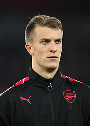 Arsenal's Rob Holding during the UEFA Europa League match at the Emirates Stadium, London. PRESS ASSOCIATION Photo. Picture date: Thursday November 2, 2017. See PA story SOCCER Arsenal. Photo credit should read: John Walton/PA Wire