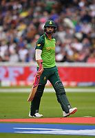 Cricket - 2019 ICC Cricket World Cup - Group Stage: New Zealand vs. South Africa<br /> <br /> South Africa's Faf du Plessis dejected as he is clean bowled by New Zealand's Lockie Ferguson for 23, at Edgbaston, Birmingham.<br /> <br /> COLORSPORT/ASHLEY WESTERN