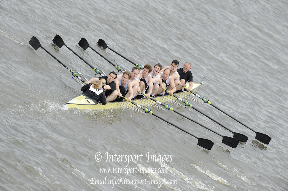 Chiswick, London, GREAT BRITAIN, Molesey 3, starting the the race, looking from Chiswick Bridge. 2011 Head of the River Race. Mortlake to Putney,  Championship Course River Thames on Saturday  02/04/2011  [Mandatory Credit, Peter Spurrier/Intersport-images]
