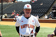 WINSTON-SALEM, NC - JUNE 02: Maryland head coach John Szefc. The West Virginia University Mountaineers played the University of Maryland Terrapins on June 2, 2017, at David F. Couch Ballpark in Winston-Salem, NC in NCAA Division I College Baseball Tournament Winston-Salem Regional Game 1. West Virginia won the game 9-1.