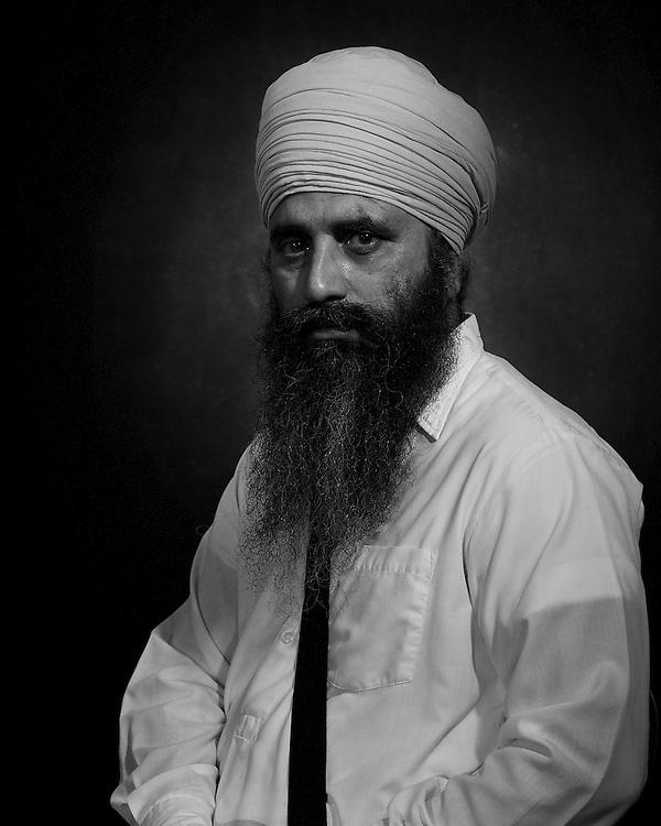 Formal portrait of Sardar Satnam Singh