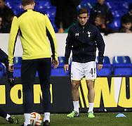 Tottenham's Harry Winks warms up<br /> <br /> Europa League Group C- Tottenham vs Partizan Belgrade - White Hart Lane - England - 27th November 2014 - Picture David Klein/Sportimage